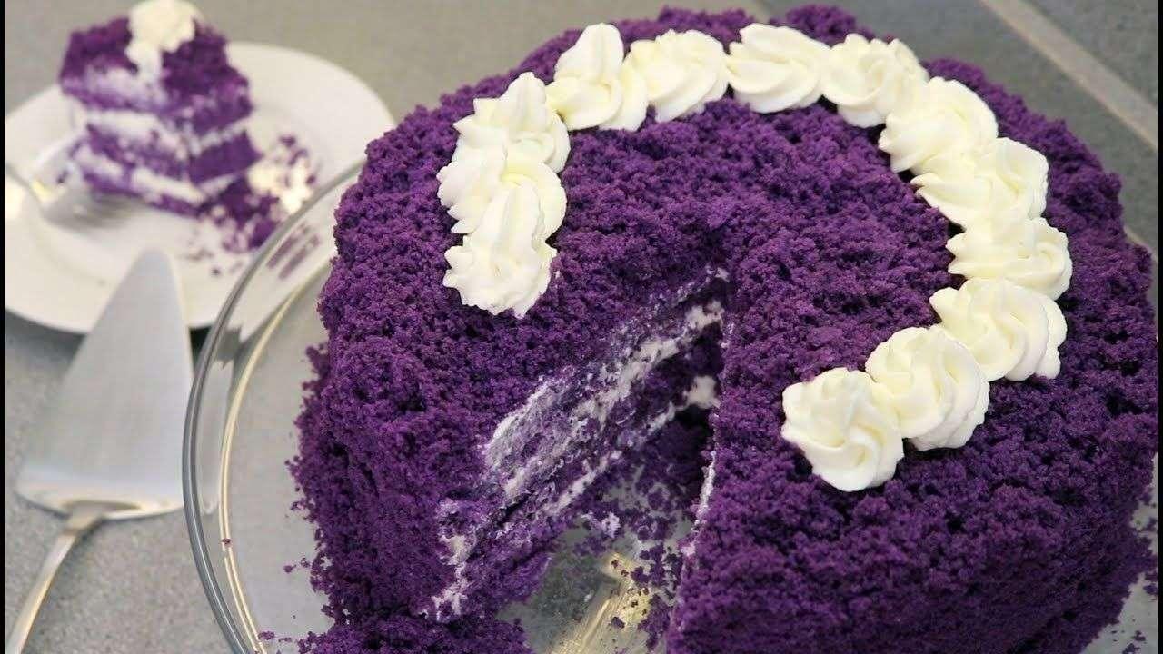 Ube Maccapuno Cake Red Ribbon Bakery